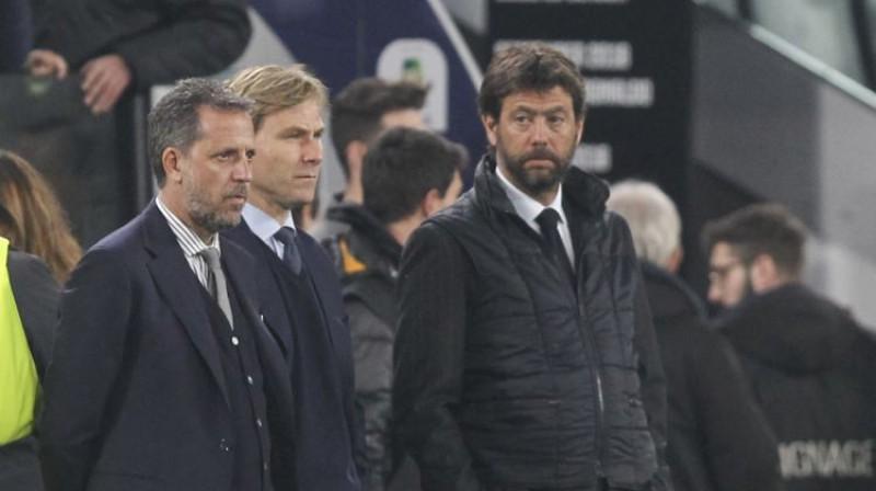 """ECA vadītājs Andrea Agnelli kopā ar """"Juventus"""" vadību. Foto:Zumapress.com/Scanpix"""