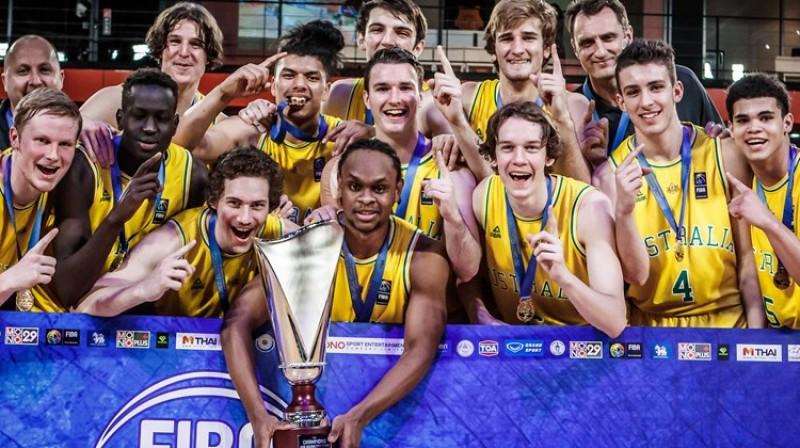 Austrālijas juniori 2018. gadā triumfēja Āzijas U18 čempionātā. Foto: FIBA