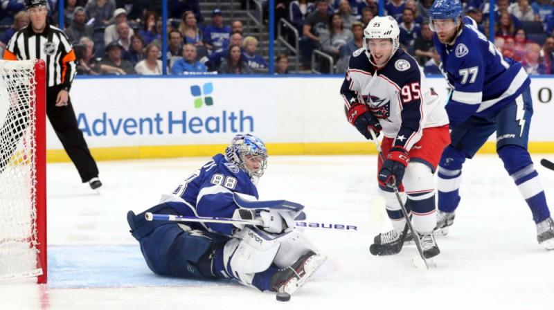 Mets Dušeins uzbrukumā. Foto: USA Today Sports/Scanpix