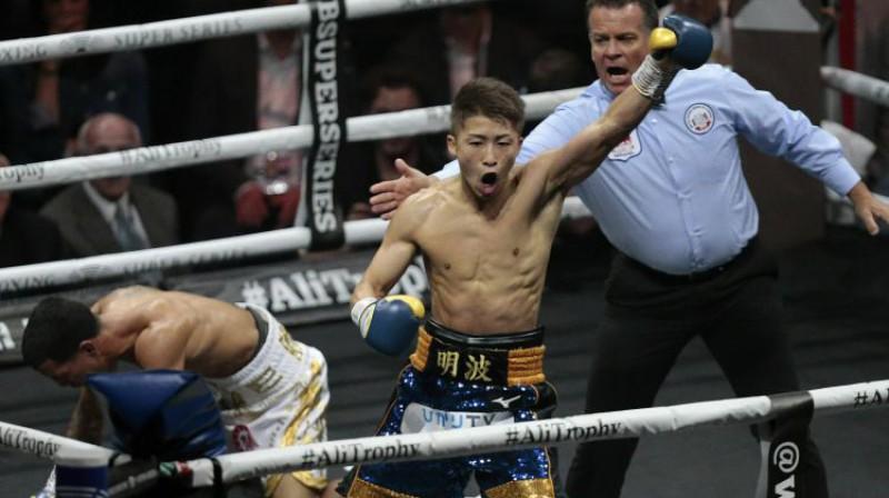 Naoja Inoue šodienas cīņā. Foto: AP/Scanpix