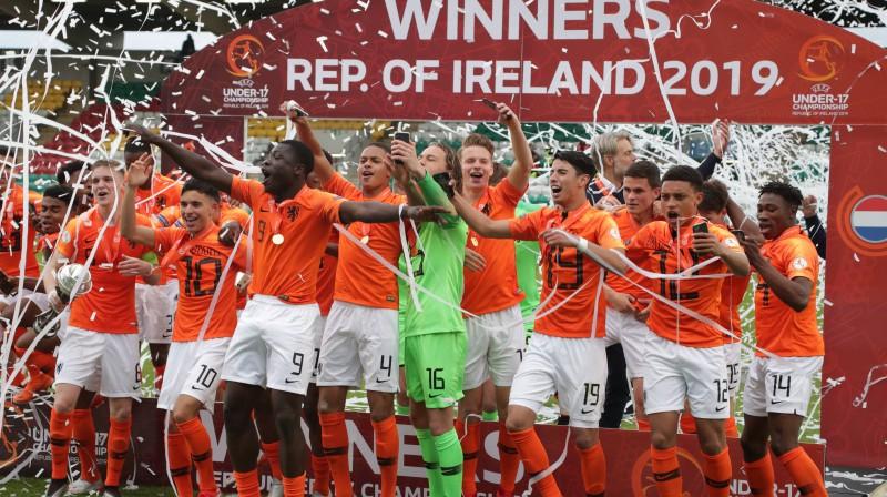 Nīderlandes U17 izlase. Foto: imago images/Focus Images/Scanpix