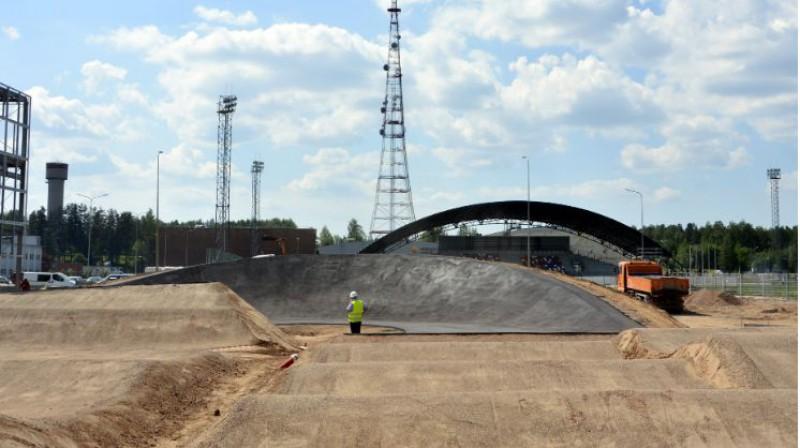 Jaunā Valmieras BMX trase. Foto: Latvijas Riteņbraukšanas federācija