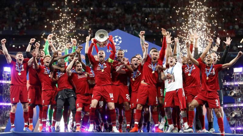 """""""Liverpool"""" - 2019. gada Čempionu līgas uzvarētāja. Foto: AFP / Scanpix"""