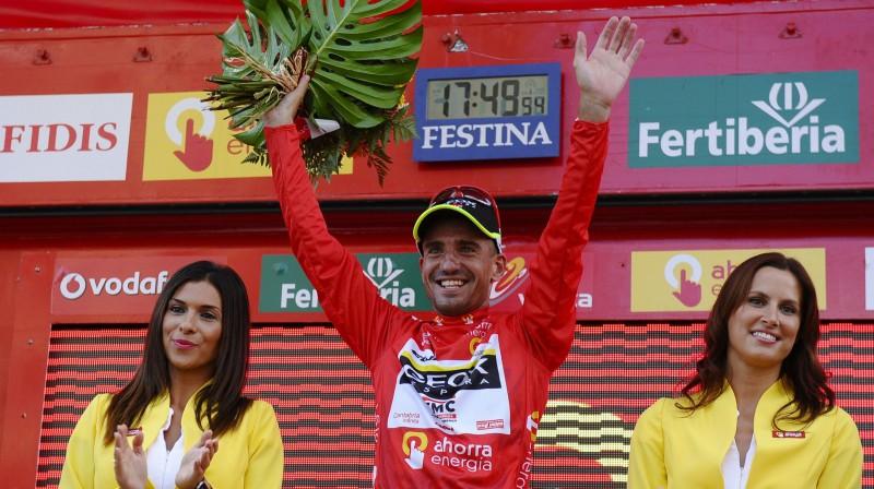 """2011. gada """"Vuelta a Espana"""" uzvarētājs Huans Hosē Kobo Foto: AP/Scanpix"""