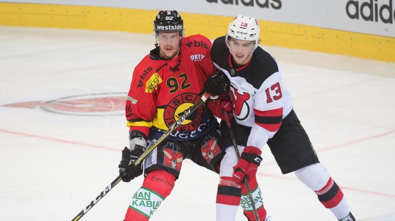 """Geitans Hāss pārbaudes spēlē pret Ņūdžersijas """"Devils"""". Foto: Imago Sport/Scanpix"""