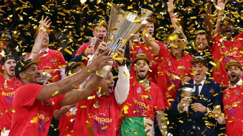 Eirolīgas pašreizējā čempione Maskavas CSKA. Foto: Reuters / Scanpix