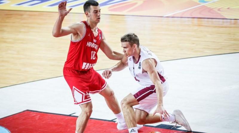 Dāvids Atelbauers. Foto: FIBA