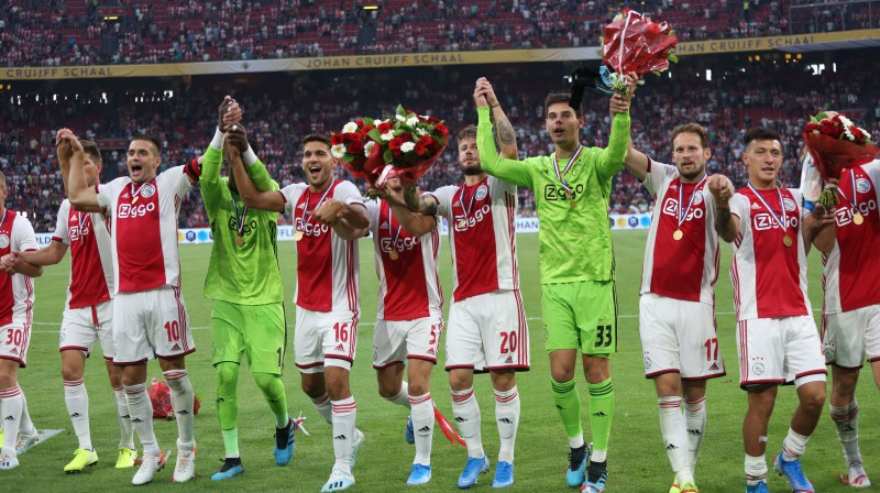 "Amsterdamas ""Ajax"" futbolisti. Foto: ZUMAPRESS.com/Scanpix"