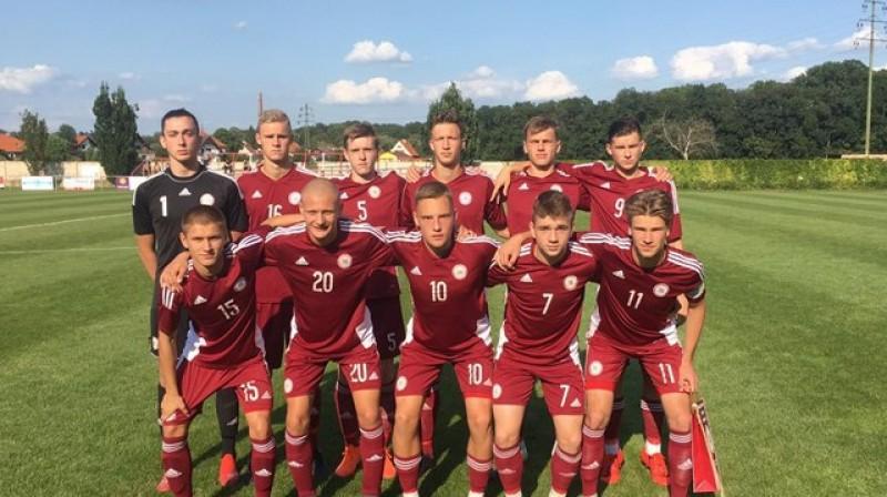 Latvijas U18 futbola izlase. Foto: LFF