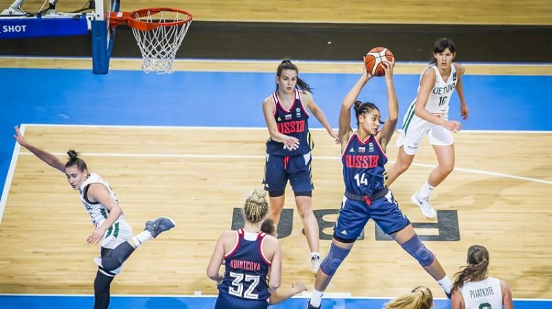 Anastasija Kosu: 27 punkti un 14 atlēkušās bumbas Eiropas U16 čempionāta finālā. Foto: FIBA