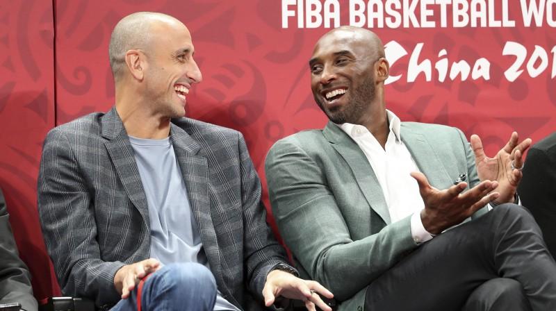 Manu Džinobili un Kobe Braients. Foto: Sipa/Scanpix