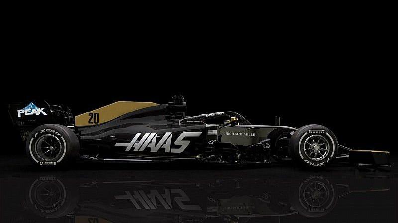 """""""Haas"""" sacīkšu auto bez galvenā sponsora uzlīmēm. Foto: Haas F1 Team"""