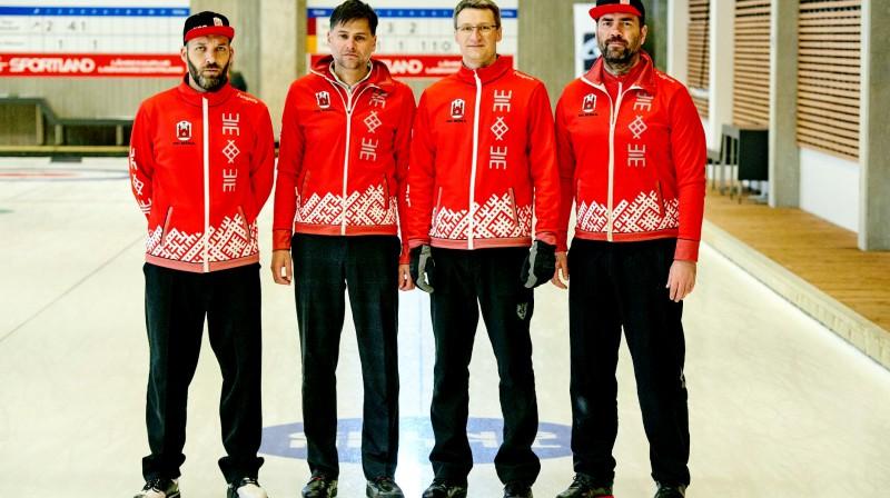 """Mārtiņa Trukšāna komanda """"WCT Tallinn Mens Challenger 2019"""" - 2.vieta No kreisās: Sandris Buholcs, Arnis Veidemanis, Jānis Klīve, Mārtiņš Trukšāns"""