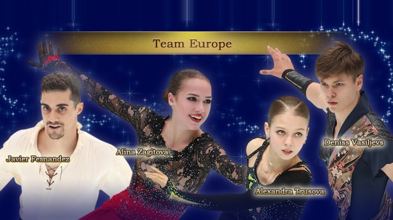 Eiropas izlase. Foto: tv-tokyo.co.jp/japanopen2019
