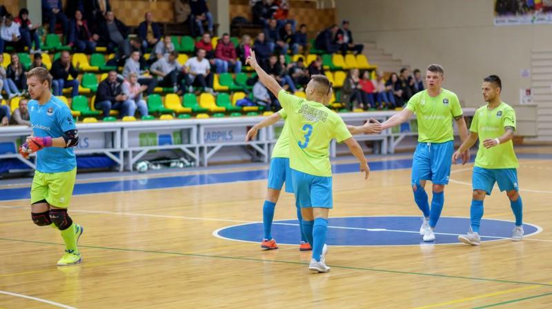 """Jēkabpils Lūši/Ošukalns"" telpu futbolisti. Foto: SK Jēkabpils Lūši"