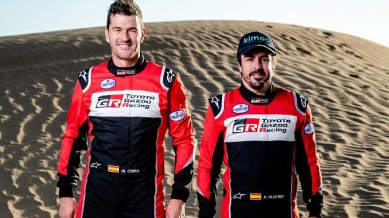 Vienā ekipāžā startēs Marks Koma un Fernando Alonso. Foto: toyota Gazoo Racing