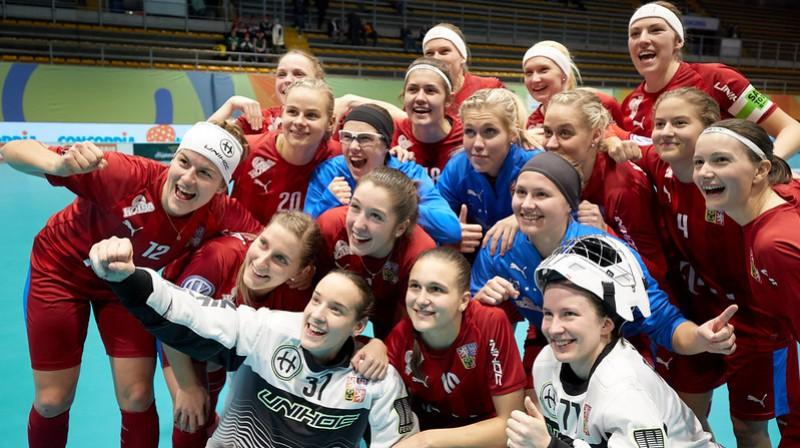 Vai Čehijas izlasei būs iemesls smaidīt arī pēc šodienas spēles? Foto: IFF Floorball