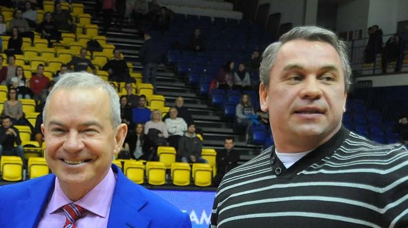 Aivars Lembergs un Viktors Ščerbatihs. Foto: Juris Presņikovs, ventspils.lv