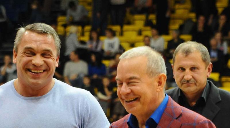 Viktors Ščerbatihs, Aivars Lembergs, Eduards Adruškevičs. Foto: Juris Presņikovs, ventspils.lv