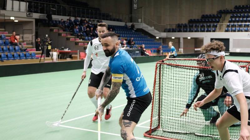 Igaunijas izlases kapteinis Romans Pass Foto: IFF Floorball