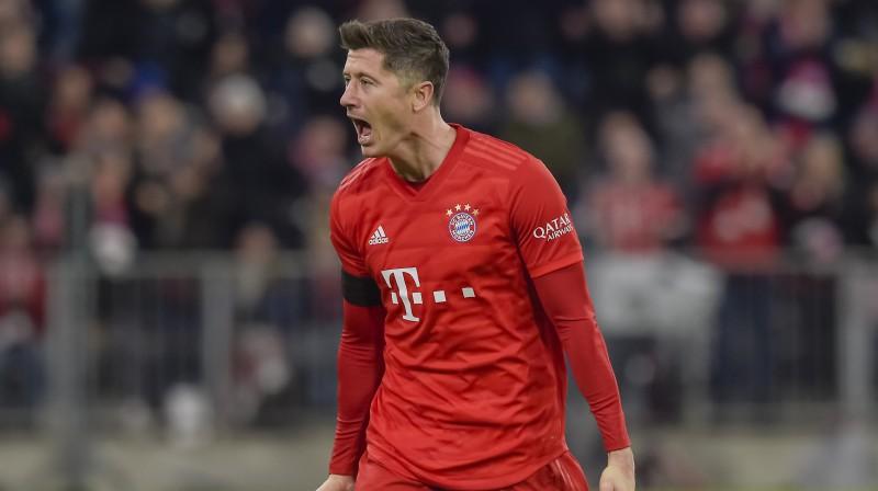 "Minhenes ""Bayern"" bombardieris Roberts Levandovskis. Foto: AFP/Scanpix"