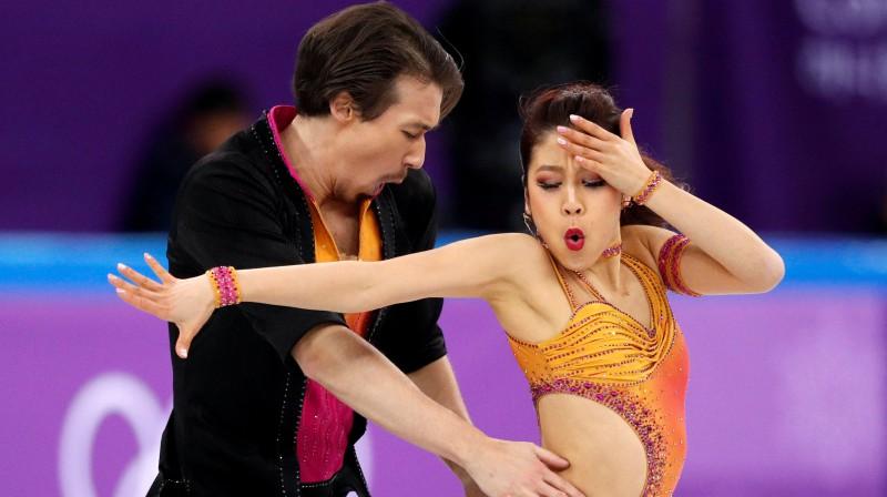 Kriss Rīds un Kana Muramoto. Foto: Reuters/Scanpix