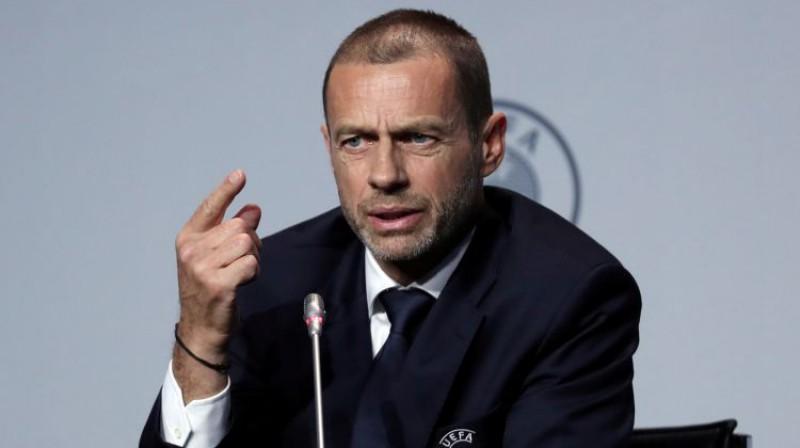 UEFA prezidents Aleksanders Čeferins. Foto: Reuters/Scanpix