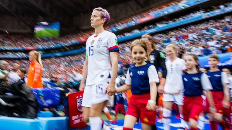 ASV sieviešu izlases līdere Megana Rapino. Foto: imago images / Bildbyran/Scanpix