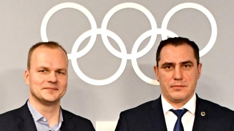 Edgars Severs un Sandis Riekstiņš. Foto: Latvijas Olimpiskā komiteja