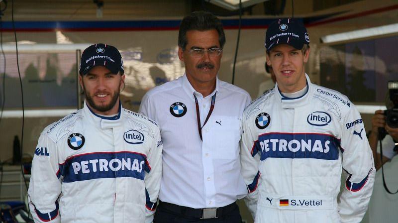 Savulaik Haidfelds un Fetels bijuši komandas biedri. Foto: Motorsport.com