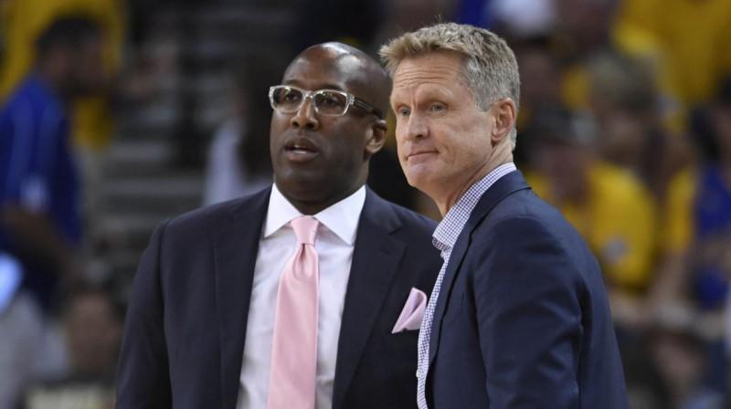 Maiks Brauns un Stīvs Kers. Foto: USA Today Sports / Scanpix
