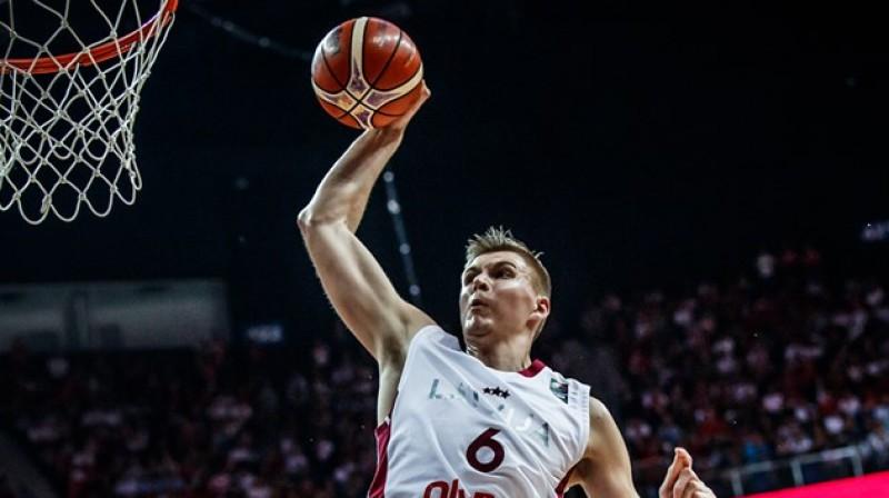 Kristaps Porziņģis. Foto: fiba.basketball/eurobasket/2017