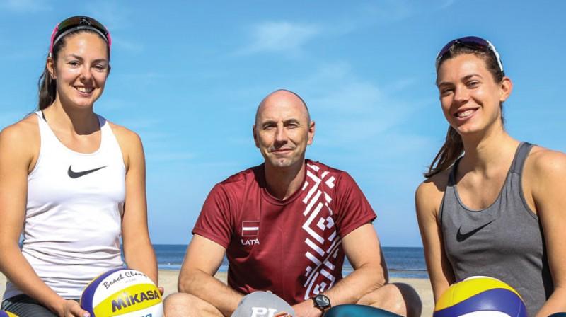 """Anastasija Kravčenoka, Andris Krūmiņš, Tīna Graudiņa. Foto: Renārs Buivids, žurnāls """"Sports"""""""