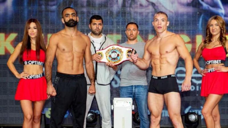 Zaurs Džavadovs un Sebastians Fapso pirms cīņas. Foto: LNK Boxing