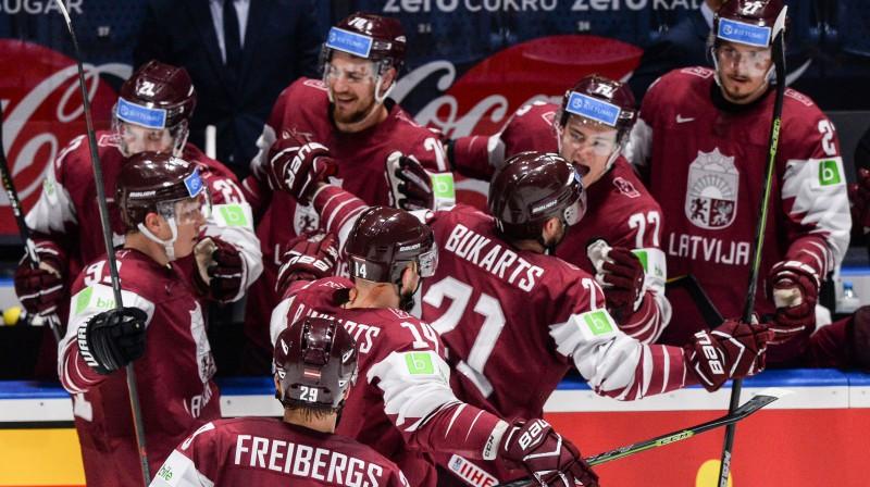 Latvijas izlase. Foto: AFP/Scanpix