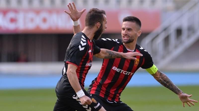 Abi RFS ziemeļmeķedonieši Jovans Popzlatanovs un Darko Micevskis. Foto: Vardar