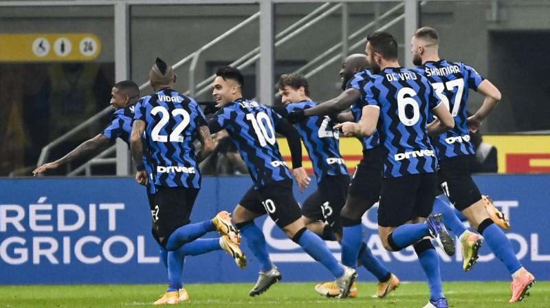 ''Inter'' svin otro vārtu guvumu. Foto: AFP/Scanpix