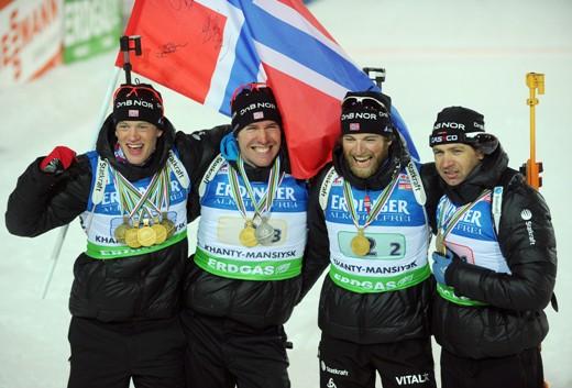 Aizraujošā stafetē triumfē Norvēģija, Latvijai 14. vieta