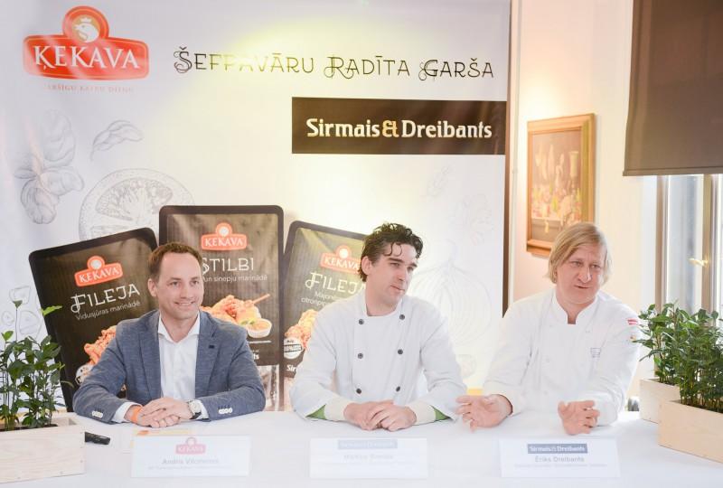 PF Ķekava sadarbībā ar šefpavāriem Sirmo un Dreibantu izstrādā unikālu marinētās gaļas līniju gardēžiem