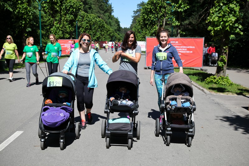 Pirmo reizi Sieviešu skrējienā - Jauno māmiņu starts