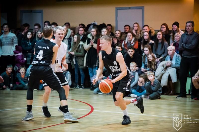 """""""VEF Rīgas skolu superlīgā"""" basketbolā startē izslēgšanas turnīra spēles"""
