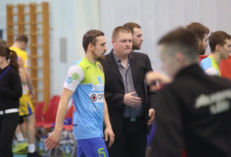 Pirmo uzvaru Latvijas volejbola čempionāta finālsērijā komentē Mārcis Obrumans un Jurijs Deveikus