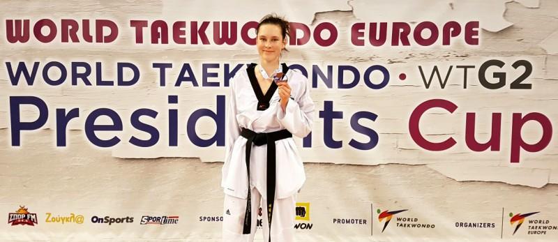 Jolantai Tarvidai bronzas godalga Pasaules taekvondo Prezidenta kausā