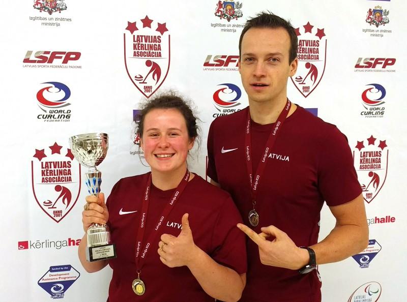 S.Blumberga/R.Gulbis – divkārtējie Latvijas čempioni jaukto pāru kērlinga komandām