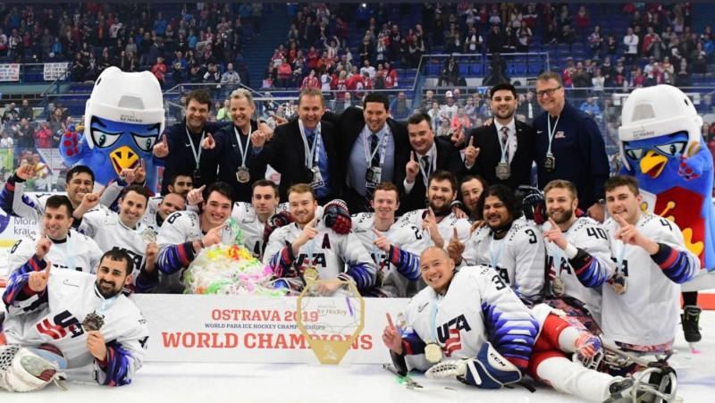 ASV izlase pirmo reizi kopš 2015. gada kļūst par pasaules čempioni parahokejā