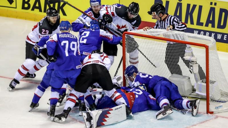 Slovākija gūst piecus vārtus, taču 1,8 sekundes līdz beigām sāpīgi zaudē Kanādai