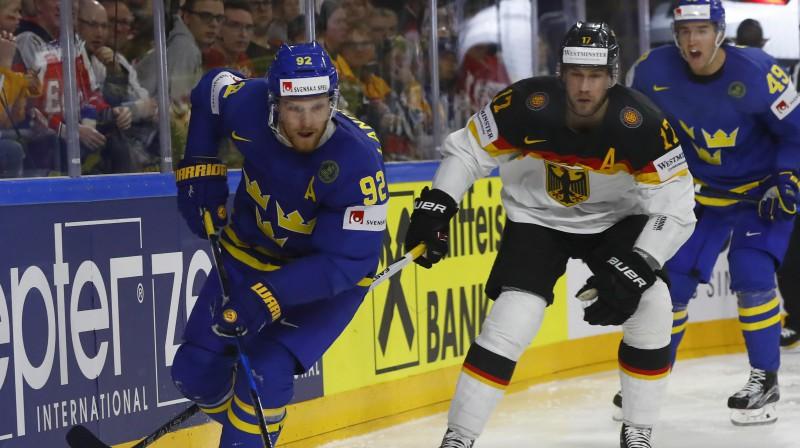 Zviedrija vēlas trešo zeltu pēc kārtas: Landeskūgs kļūst par 21. spēlētāju no NHL