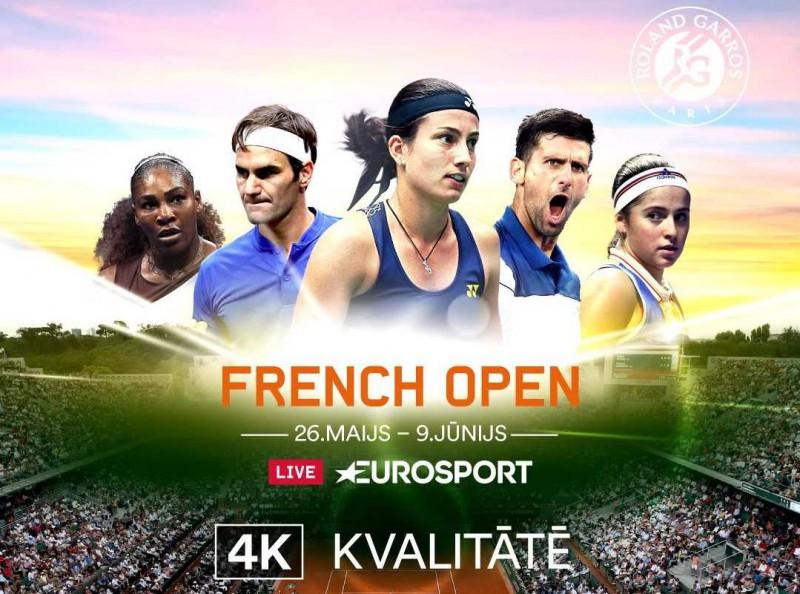 Francijas atklāto tenisa čempionātu pirmoreiz Latvijā iespējams vērot 4K kvalitātē