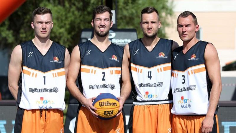 ''Ventspils'' 3x3 basketbola komanda tiek 1/4 finālā ''Challenger'' turnīrā Lipikā