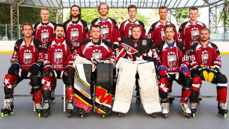 Latvijas inline hokeja izlase cīnīsies par devīto vietu pasaules čempionātā